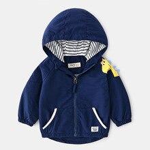 27kids Spring newborn baby boy jacket Dinosaur coat  boy girls cartoon trench jackets clothes tops hooded Windbreaker outerwear