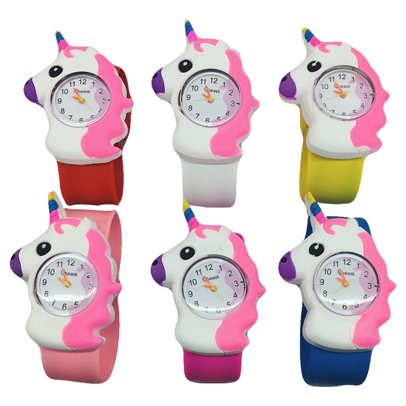 Watches Open-Minded 10pcs Unicorn Wristwatch Children Slap Watch Gift Party Kids Digital Watch Girls Led Slap Watches Wristwatches Gift Outstanding Features