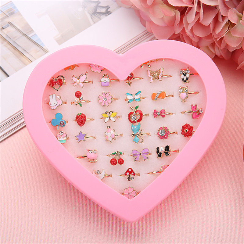 New 1pc Fancy Adjustable Cartoon Rings Favors Kids Girls Action Figures ToyNew 1pc Fancy Adjustable Cartoon Rings Favors Kids Girls Action Figures Toy