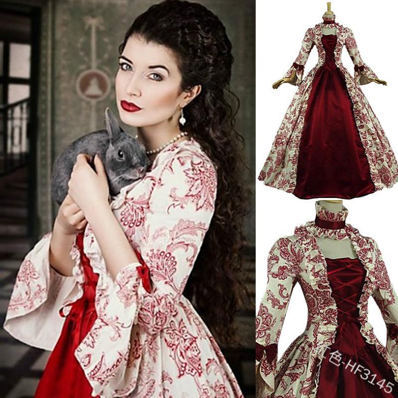 Women's Plus Size Dress Women Medieval Dress Vintage Marie Antoinette Dress Christmas Ball Gown Theatre Costumes