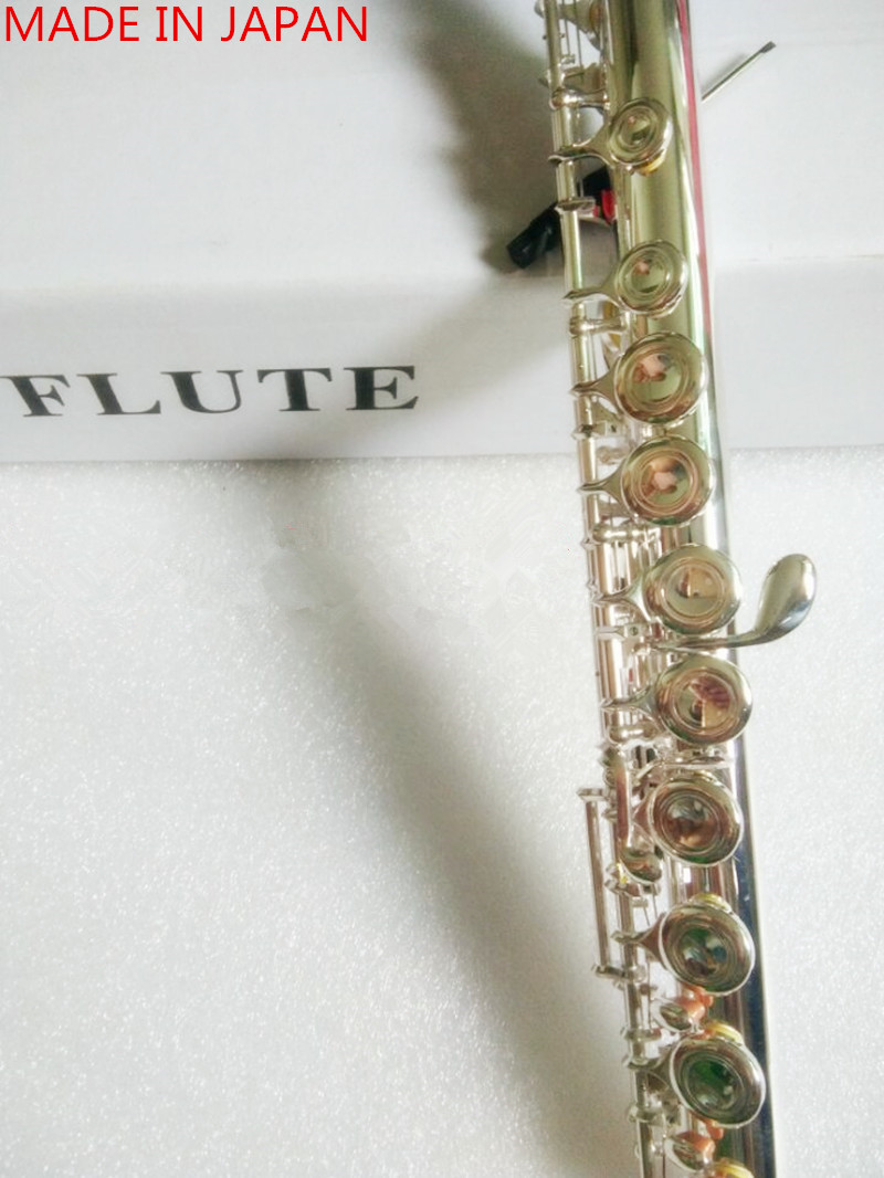 High quality New 211SL Flute Musical instrument 16 over E Key Silver C Tune Flute music professional With case shipping
