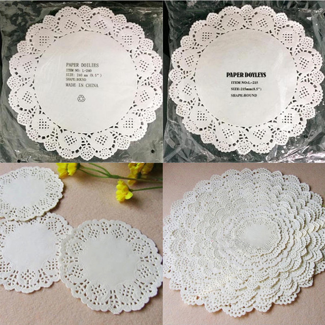Diy White Round Lace Paper Doilies Craft Cake Placemat Wedding