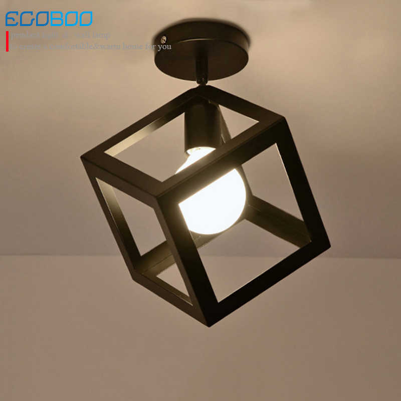 NEW Modern Nordic style black ceiling light with E27 Socket fashionable iron restaurant balcony study corridor ceiling lighting