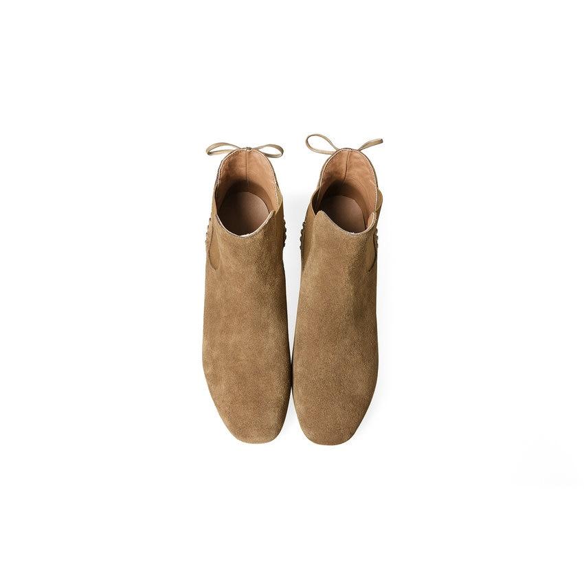 Camel À Automne Cheville gris On Carré Chaussures Vache 34 Slip Tasslynn Mode 2018 De Color Bottes Hauts Daim Printemps noir En 39 Talons Femmes nqYvxOR