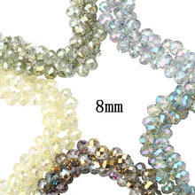 8mm 70pcs/lot Round Faceted Crystal Glass Rondelle Spacer Beads For Jewelry Making DIY Findings