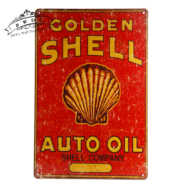 Vintage Tin Sign Automotive : Metal tin signs auto oil retro sign street rod for