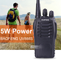 Baofeng 888 s 5 w uhf 400-470 mhz walkie talkie cb rádio portátil handheld rádio 888 s dois way radio transceiver