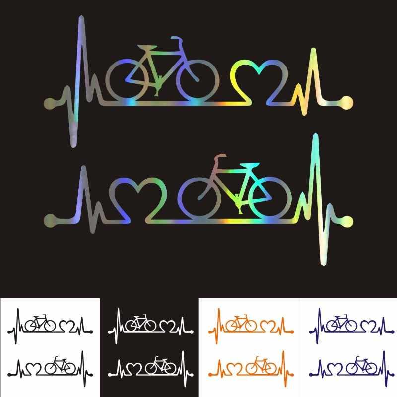 רכב מדבקות 3D מדבקת אופניים Heartbeat עורק חיים רכב סטיילינג מדבקות רעיוני לקנות 2 לחסוך חצי 18.5*8.1 CM אישית מדבקה