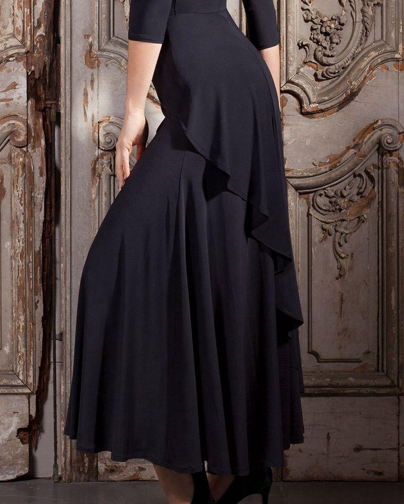 b94d8d95b Flamenco Dance Costume Skirt Long Ballroom Dancing Modern Standard Waltz Dancer  Dress Spain Dancing Performance skirts