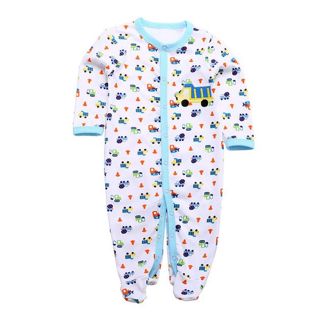 Retail 2014 de Invierno Mamelucos Del Bebé Ropa Interior Pijamas de La Manga Larga de Una sola pieza de Los Bebés Del Mameluco del mono de Carácter Similar