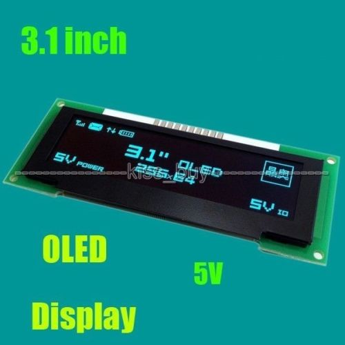 3.1 inch OLED LCD Screen 256X64 OLED display module SPI 5v blue GREEN YEELOW FOR IO level 51 STM32 ssd1322 control uno r33.1 inch OLED LCD Screen 256X64 OLED display module SPI 5v blue GREEN YEELOW FOR IO level 51 STM32 ssd1322 control uno r3