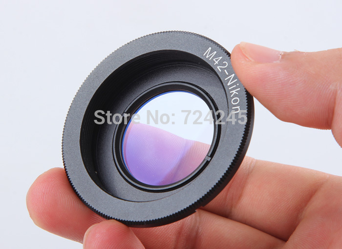 Anillo adaptador de lente para M42 Adaptador de montaje de lente a Nikon con vidrio de enfoque infinito para cámara réflex digital Nikon D60 D80 D90 D90 D7000
