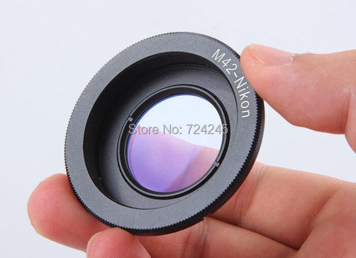 Lens Anello Adattatore per M42 Lens per Nikon Adattatore di Montaggio con Messa A Fuoco infinito di Vetro per Nikon Dslr D60 D80 D90 D700 D5000