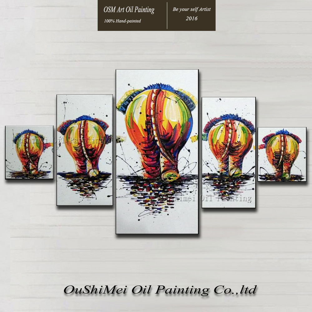 New Handmade Modern Mural Picture Canvas Wall Art Elephant Family Painting Hang Paintings Animals Group Oil Painting LandscapeNew Handmade Modern Mural Picture Canvas Wall Art Elephant Family Painting Hang Paintings Animals Group Oil Painting Landscape