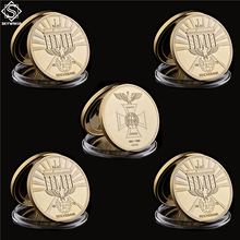 5PC German EK2 Cross Iron Reichsbank 999/1000 Gold Direktorium Challenge Euro Coins