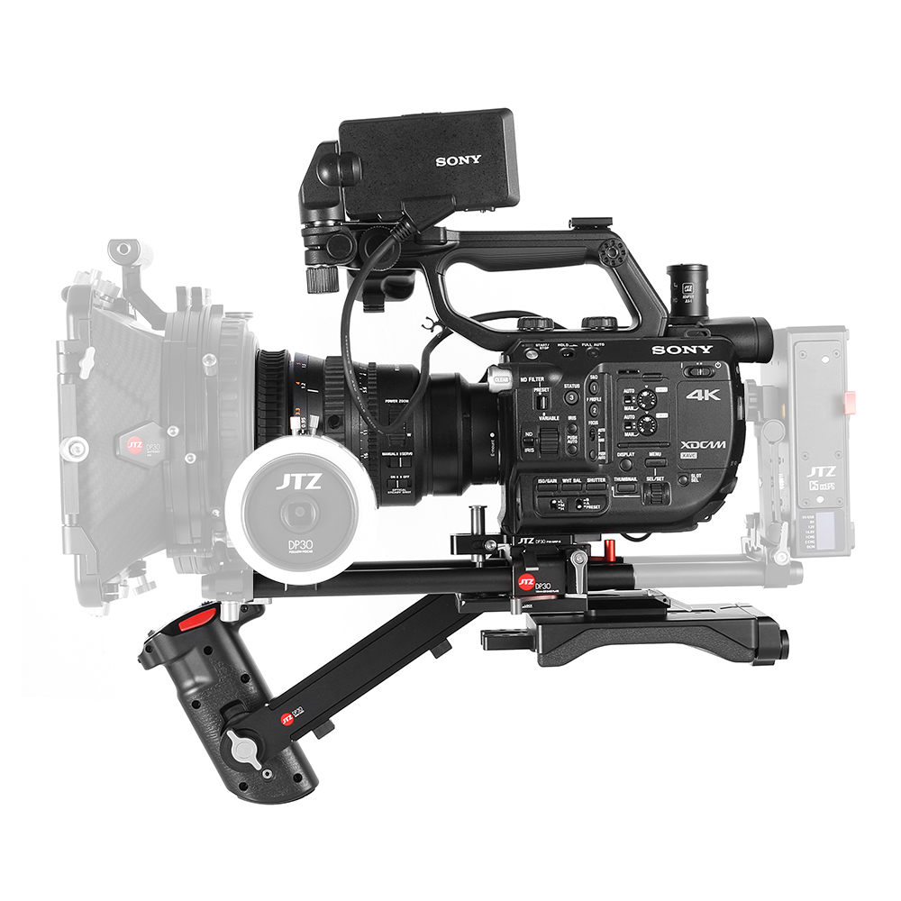 JTZ DP30 Camera Baseplate Shoulder Support Rig 15mm Rod KIT For SONY FS5 PXW-FS5 jtz dp30 camera cage baseplate rig for blackmagic ursa mini 4k 4 6k ef pl cinema
