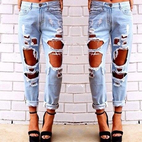 Aliexpress.com : Buy women designer jeans ripped jeans skinny ...