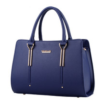 Solid female package 2016 fashion atmosphere Women Totes bag Famous brand in Europe and America style shoulder bag messenger bag