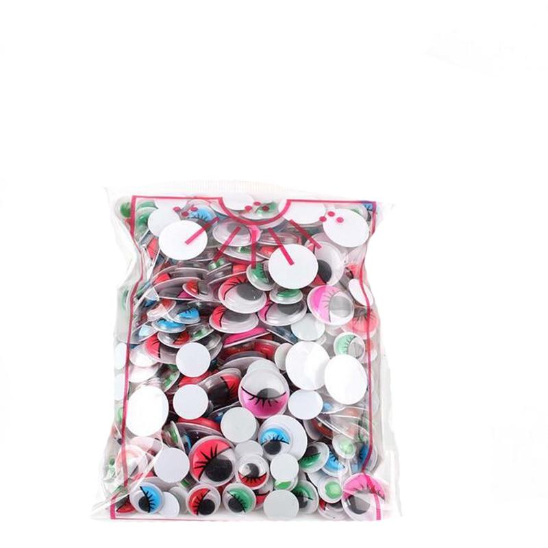 300 шт разные размеры черные защитные Глаза DIY Пластиковые сборные игрушки для кукол аксессуары плюшевая Мягкая кукла чашка украшение автомобиля - Цвет: 300pcs