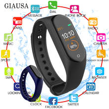 New Sport Fitness Tracker M4 Smart Heart Rate Monitor Bracelet Calories Waterproof IP67 Smart Band Fashion Watch for iOS Android цена