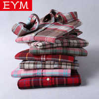 Brand New Flannel Plaid Shirt Women 2019 High Quality Women Blouses 100%Cotton embroidery Casual Long Sleeve Shirt Tops 27 Color