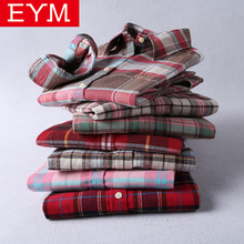 Brand New Flannel Plaid Shirt Women 2018 High Quality Women Blouses 100%Cotton embroidery Casual Long Sleeve Shirt Tops 27 Color
