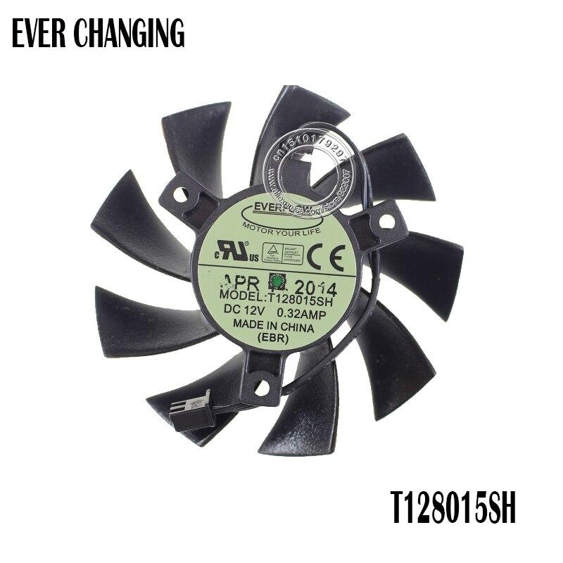 Allpartz PLD08010S12HH 75mm 4-Pin DC12V 0.35A DC Fan Brushless Graphics Video Card Cooling Dual Fan For MSI 460GTX 560GTX 570GTX 580GTX R6790 R6870 R6850HAWK