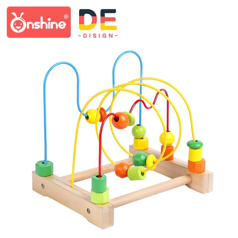 Onshine Enfants Grand En Bois Autour des Perles threading Puzzle Labyrinthe Bébé D'apprentissage Jouet Éducatif Enfants Cadeau 18 m +