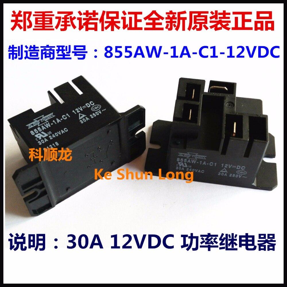 1Pcs Nouveau 855AW-1A-C1 12VDC Relais Song Chuan