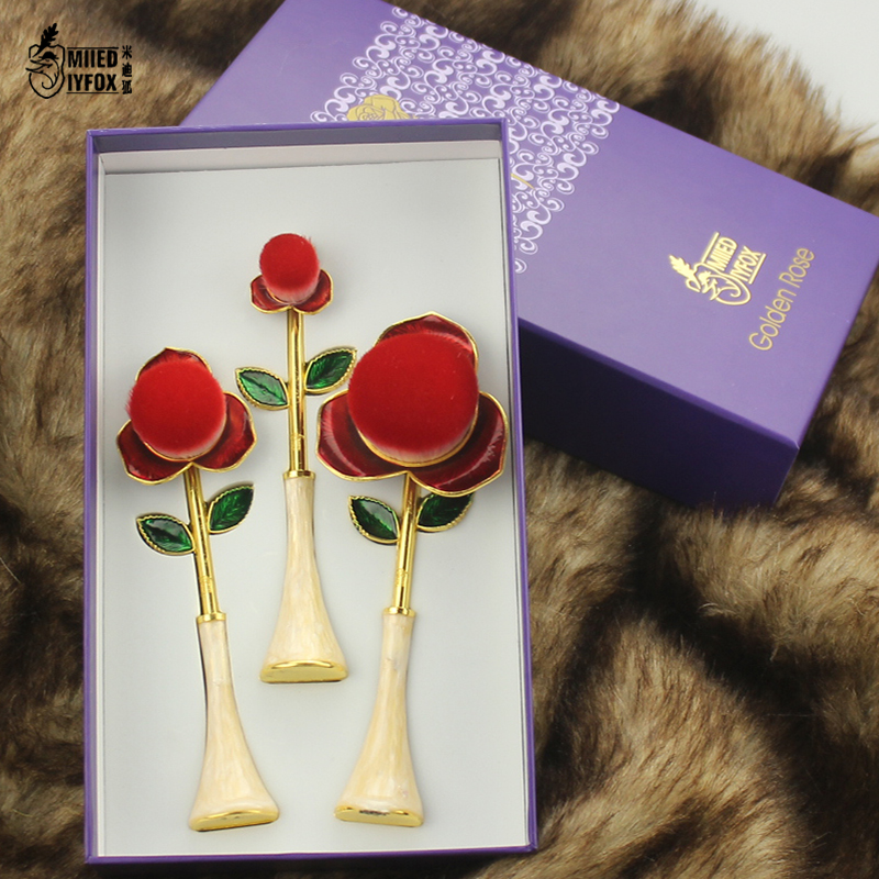 New style!! The Little Prince rose brush Beauty and the beast makeup brush Cosmetic Foundation Brush Woman gift free shipping disney decoration birthday gifts beauty and the beast the little prince glass cover fresh preserved flowers rose children toys