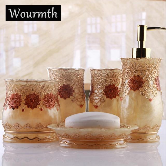 Wourmth Luxus Bad accessoires Set Europäischen Badezimmer ...