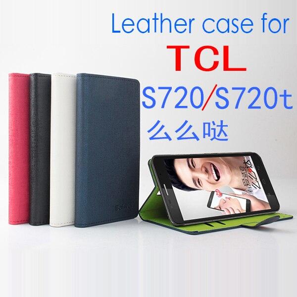Pour TCL S720 S720t Cas de Haute Qualité PU Flip En Cuir Couverture cas Pour TCL S720 S720t Protecteur Shell Retour Cas Avec Détail paquet