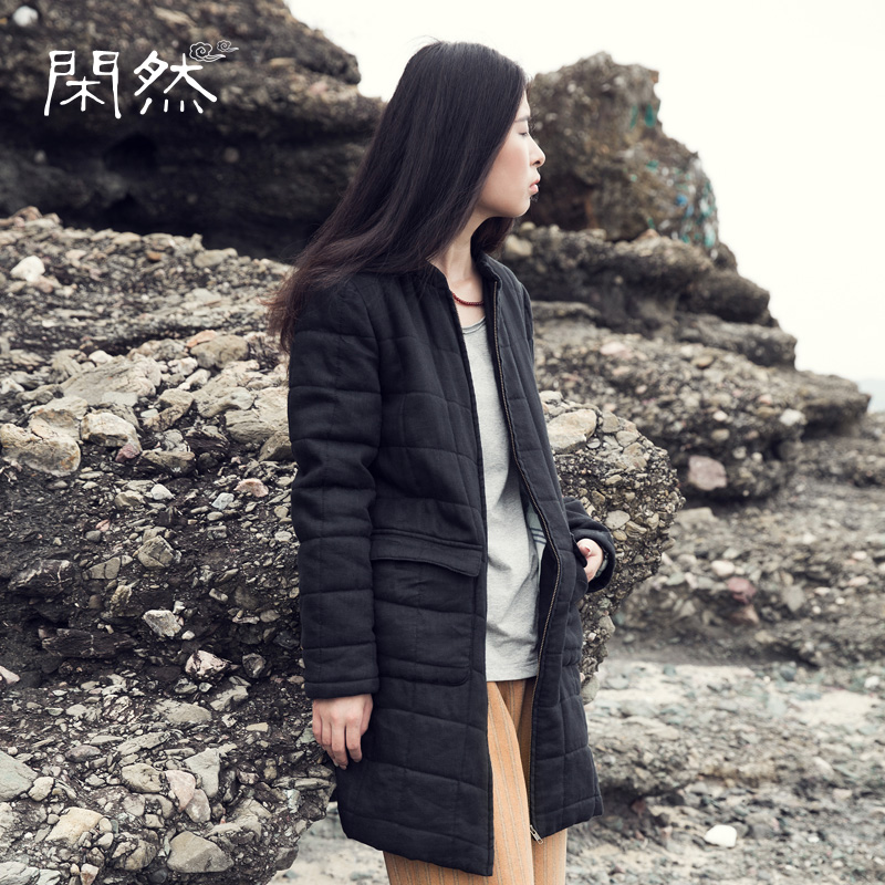 Xianran Women Winter Coat Zipper Cotton Padded Clothing