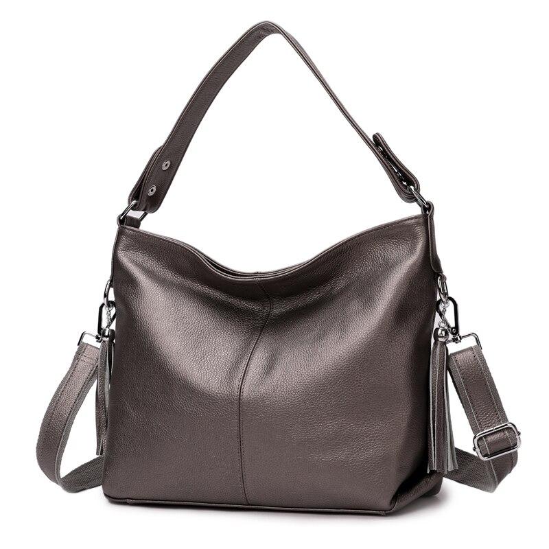 Natural Genuine Leather Women Handle Handbag Female Cross Body Messenger Shoulder Cowhide Bags Ladies Girls