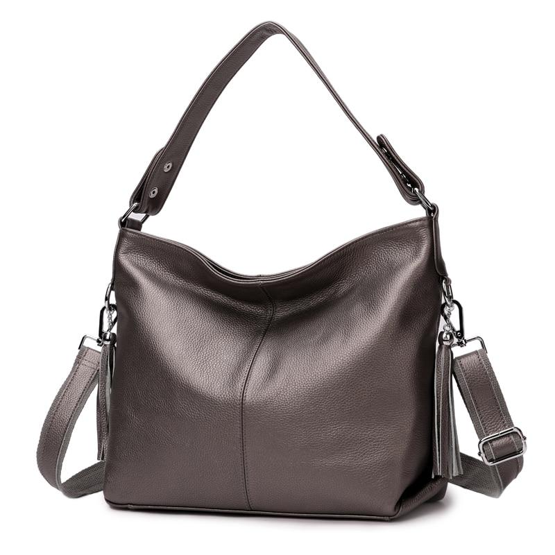 Aodux الأزياء 100% الطبيعي جلد طبيعي المرأة مقبض حقيبة الإناث عبر الجسم رسول الكتف جلد البقر حقائب السيدات الفتيات-في حقائب الكتف من حقائب وأمتعة على  مجموعة 2