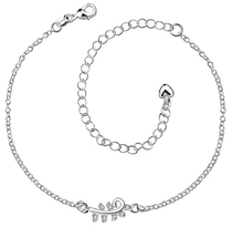 Sliver Plated Bangles Ankle Woman anklet leg Charm Silver Plated LEAVES Anklets for Women Bracelet Chain Crystal Foot Jewelry
