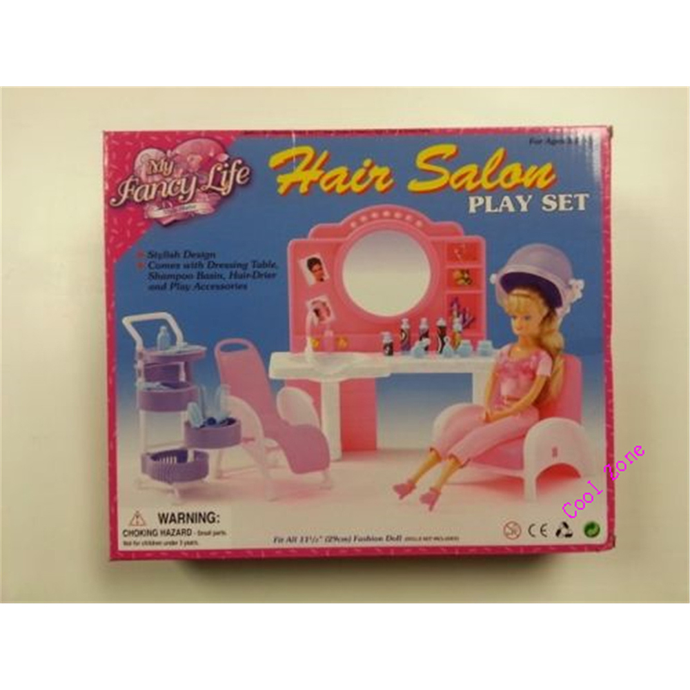 Miniature Furnishings My Fancy Life Hair Salon for Barbie Doll Home Greatest Present Toys for Woman Free Transport