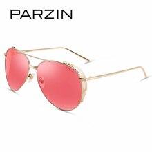 PARZIN Brand Polarized Sunglasses Men & Women Retro Classics Colors Lens Pilot Metal Frame Anti UV400 Driving Glasses 9662F