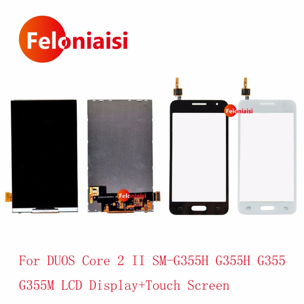 High Quality 4.5 For Samsung DUOS Core 2 SM-G355H G355M G355H G355 Lcd Display With Touch Screen Digitizer Sensor Panel