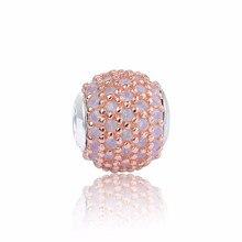 Amor de la Original Esencia Adapta Pandora Charms Pulsera Con Chapado En Oro Rosa de Cristal de Color Rosa Granos DIY Pura Plata de Ley 925
