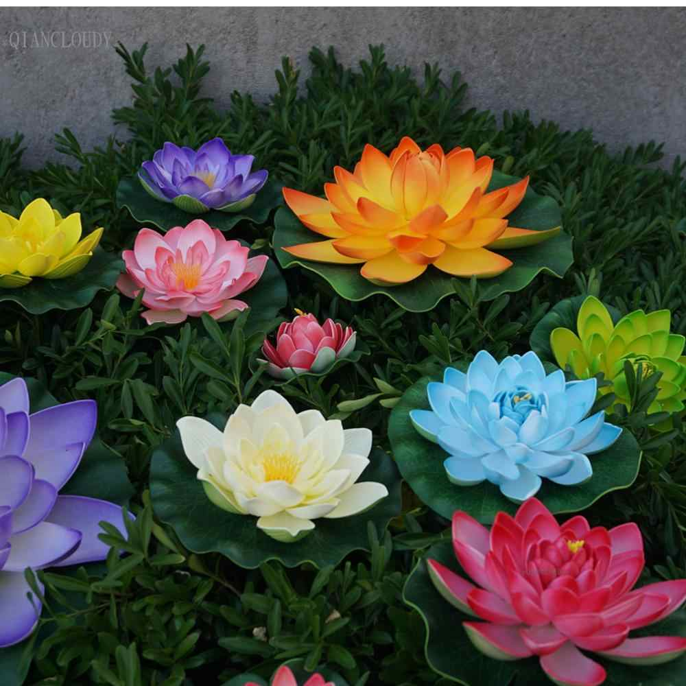 uxcell/® Orange Foam Flower Bud Lotus Aquarium Pond Decoration Floating Plant Ornament