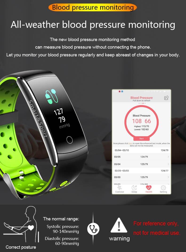 U17 HD Color pantalla inteligente pulsera dinámica Frecuencia Cardíaca presión arterial oxígeno banda inteligente para Huawei Mate RS 10 pro S 9 8 - 5