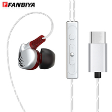 FANBIYA Sport ear hook Headphone with Mic Type c HiFi Stereo Earphone Type-c Music Earbuds for Leeco Le Max/2/Pro/3/S3 Phone