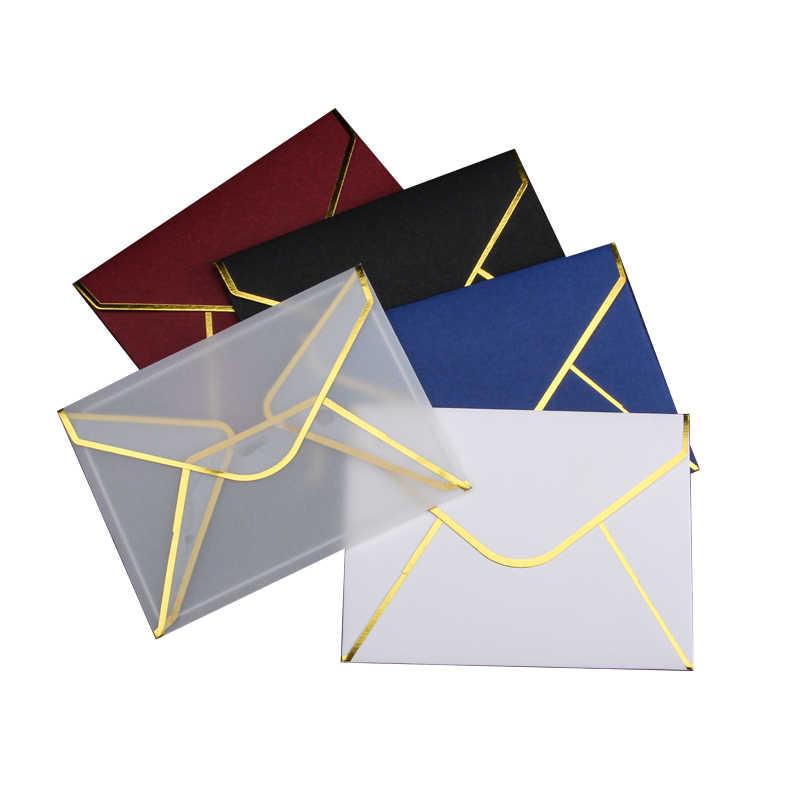 20 stks/set Transparant Papier Envelop Hot Stamping Print Dikker Papier Envelop voor Wedding Brief Uitnodiging Scrapbooking Gift