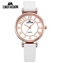 Liber Aedon Luxury Brand Women Watches Gold Fashion Dress Ladies Waterproof Quartz Wristwatch Unique Bracelet Watch reloj mujer