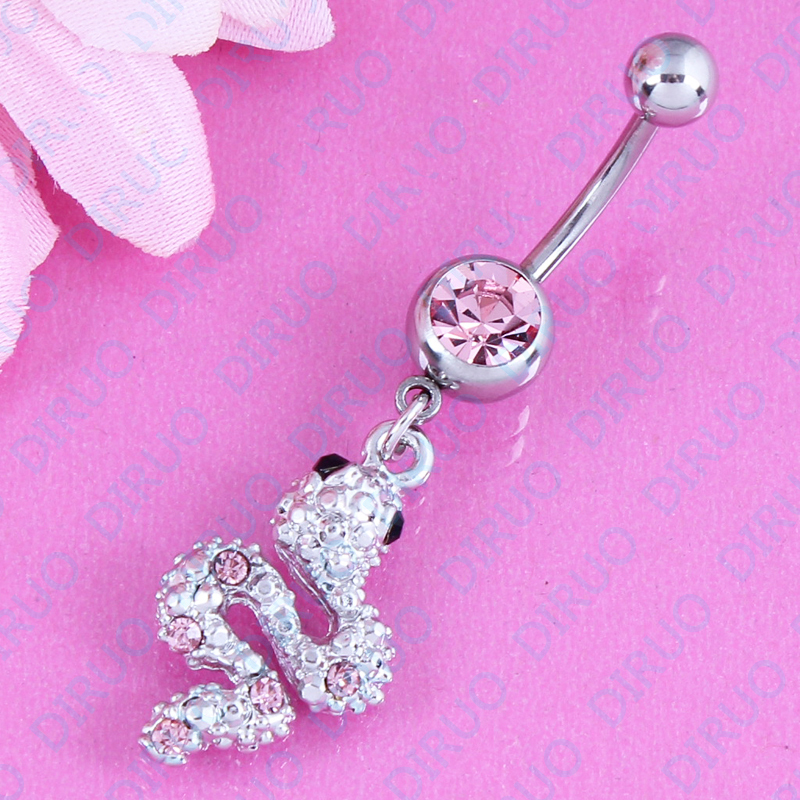 Женское кольцо для пирсинга пупка, из нержавеющей стали 316L, 14 г