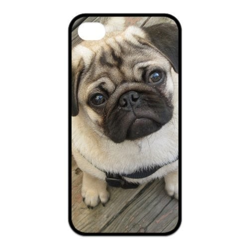 Funny Toy Dog Pug Cover case for iphone 4 4s 5 5s 5c 6 6s plus samsung galaxy S3 S4 mini S5 S6 Note 2 3 4 z3064