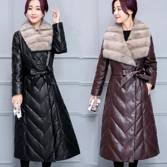 Plus size 4XL!Fashion Winter jacket PU leather Women Winter coat Thick Big fur collar High quality Leather cotton-padded jacket hot sale new 2014 women winter fashion md long thick slim big fur collar hooded plus size belt cotton padded casual jacket lj434