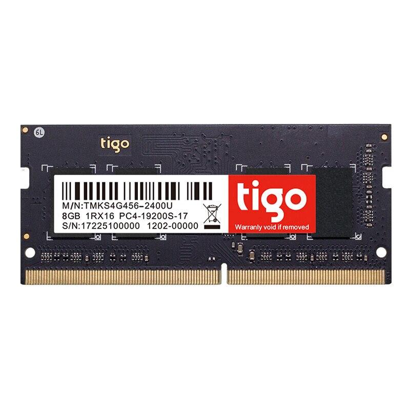Tigo RAM DDR4 8GB Laptop 2400MHz Memory 8 GB DDR 4 Memoria SoDIMM For Laptop Notebook suntrsi sealed ddr4 8gb memoria ram 2133mhz 2400mhz laptop memory ddr high compatible