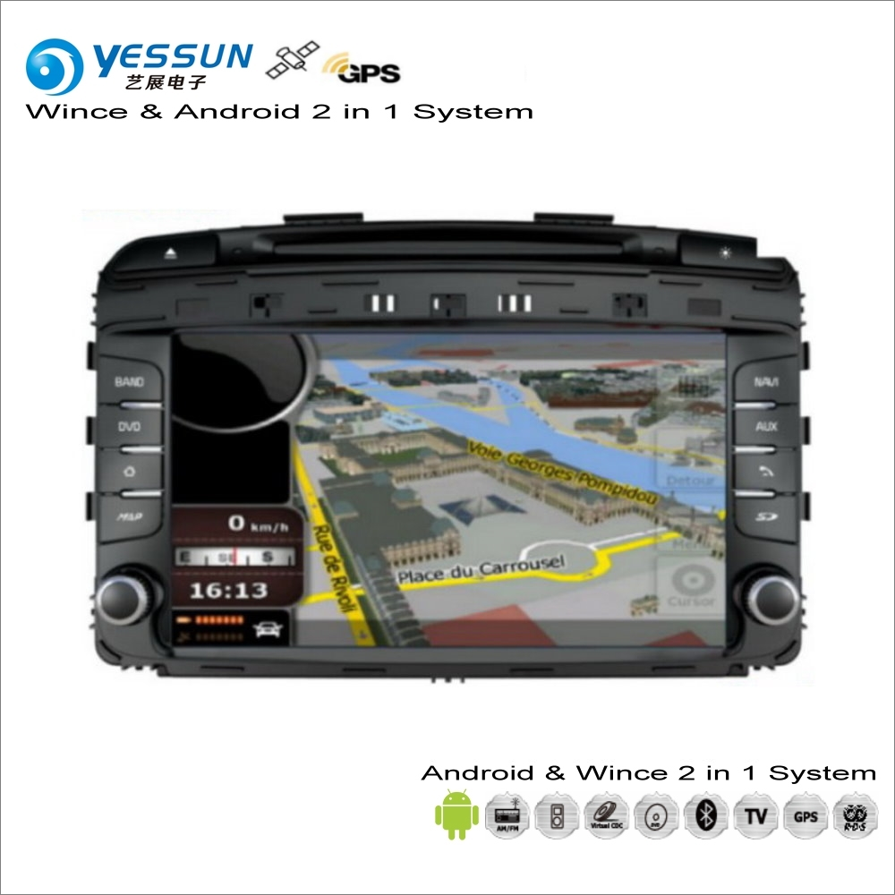YESSUN For Kia Sorento Prime / KX7 2015~2017 - Car Android Multimedia Radio CD DVD Navigation Navi Audio Stereo Video GPS Player yessun for kia rio 2017 2018 android car navigation gps hd touch screen audio video radio stereo multimedia player no cd dvd